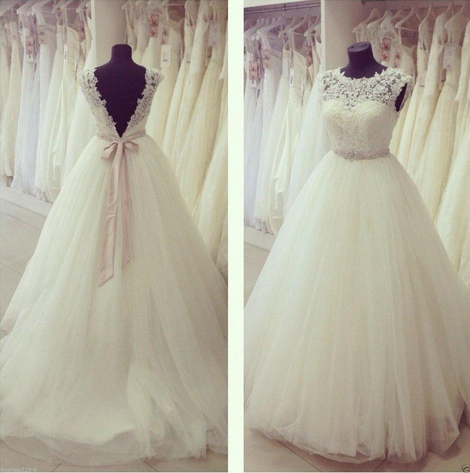 3ac571855f Lace Wedding Dress Backless pwd0058 · BBDressing · Online Store ...