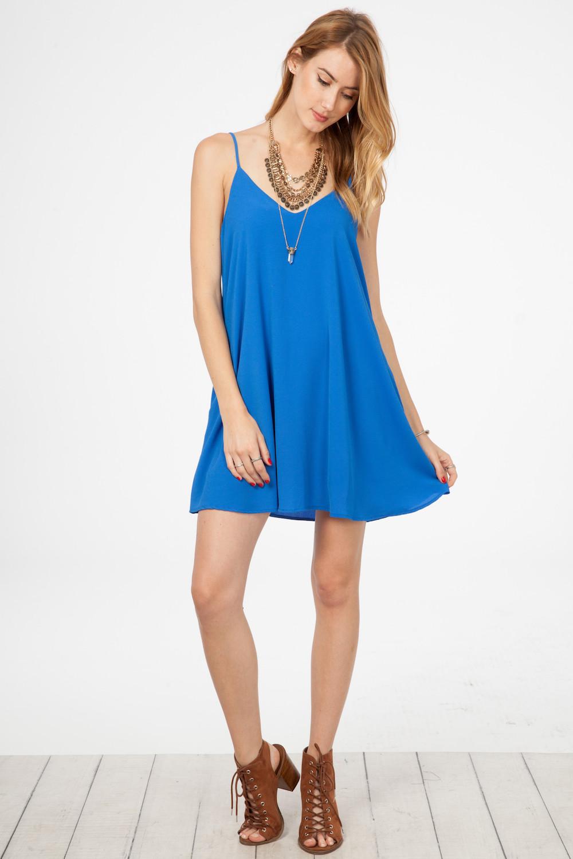 1010bacc2da5 Royal Blue Solid Mini Swing Dress on Storenvy