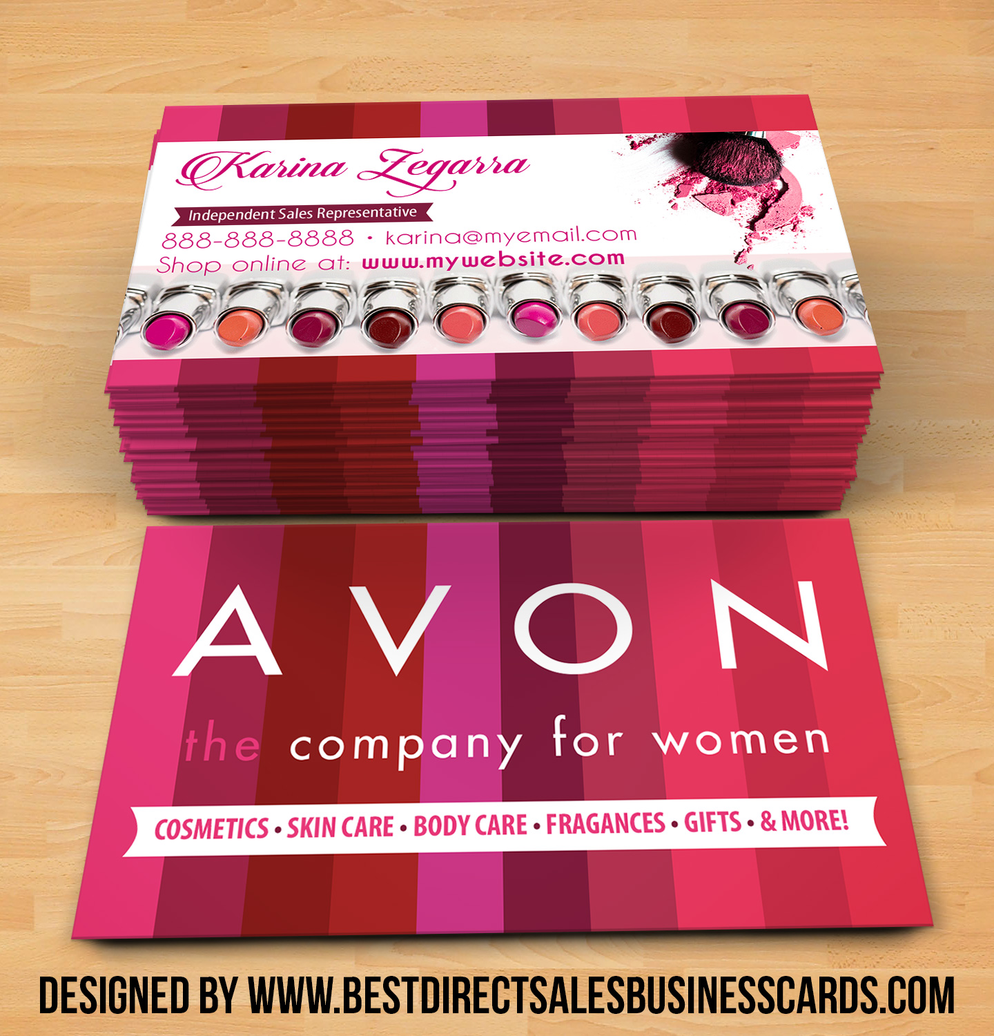 Perfect Avon Business Cards style 1 · KZ Creative Services · Online Store  BO25