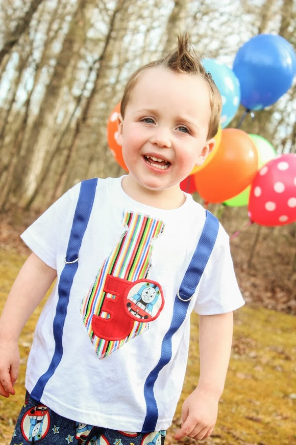 Boys First Birthday Thomas The Train Outfit 2nd