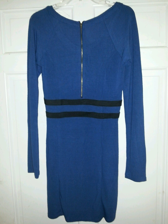 db92dc9f2d8 Derek Heart Blue Black bodycon sweater dress Large on Storenvy