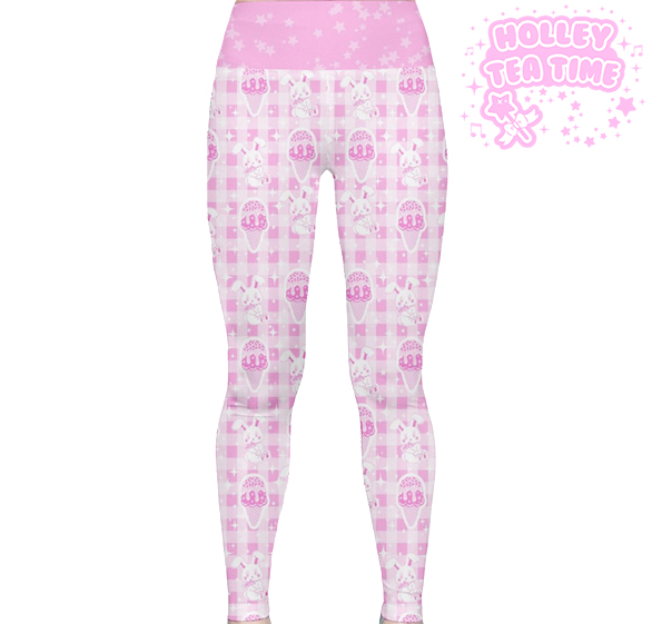 42cfaa9296989 ... Sparkle Sweets Yoga Leggings Made To Order Ice cream, Bunny, Kawaii,  Decora ...