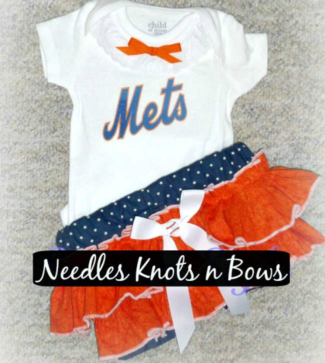 208559ae3 Girls New York Mets Outfit, Baby Girls Baseball Outfit, Girls Baby Shower  Gift Idea