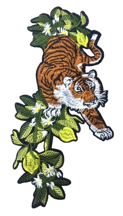 Tiger Patch Embroidered Patch Sew On Patch Applique On