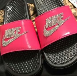 san francisco ab521 fd3ff Custom Made Nike Slippers sold by RoStylez