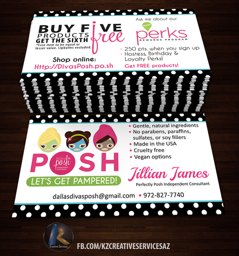 Perfectly Posh Business Cards 5 183 Kz Creative Services