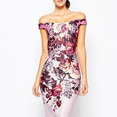 a4f4f2538f51 New arrivals fashion print midi dress sleeveless summer style floral pencil  dress elegant design beautiful women