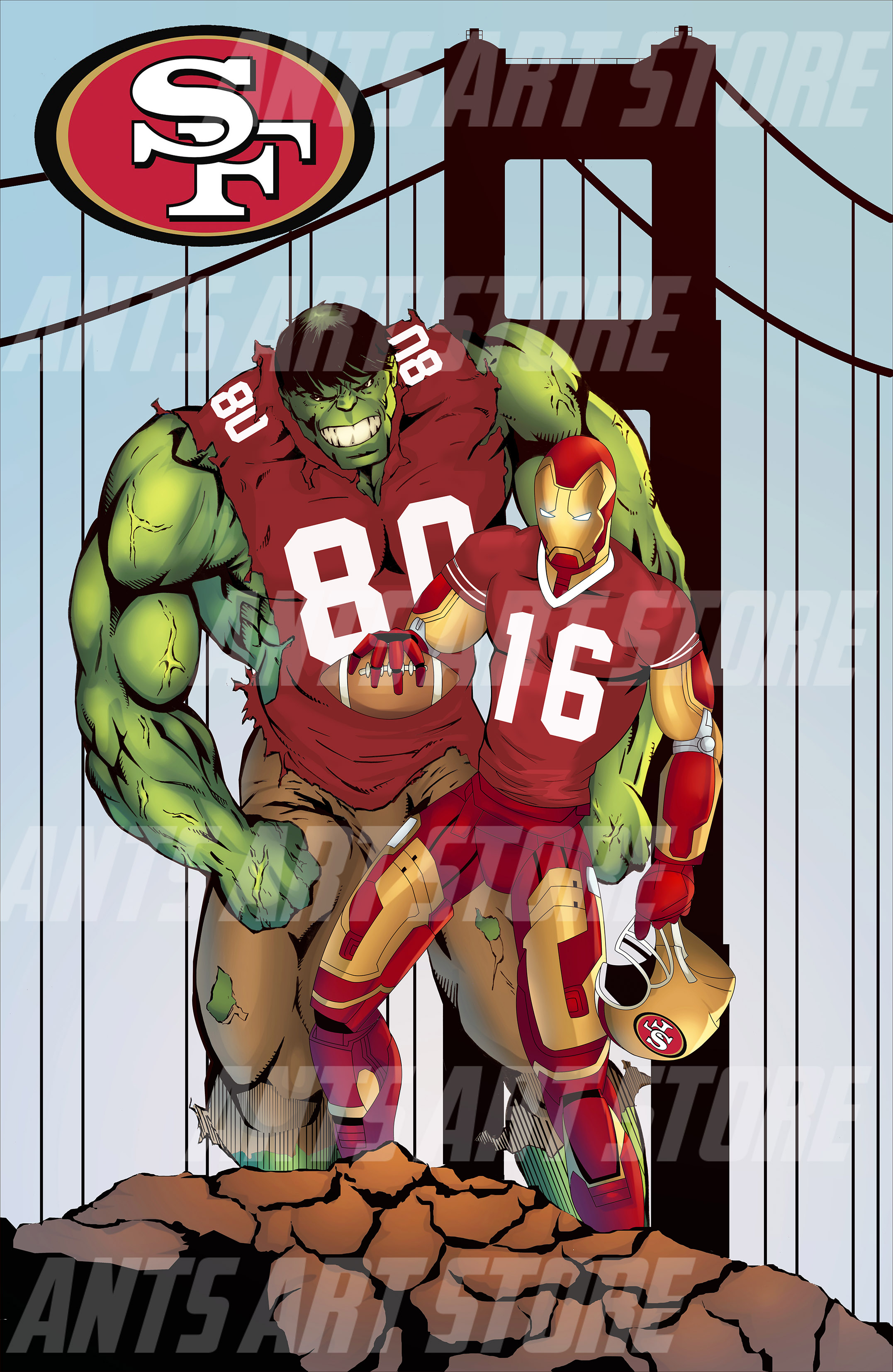 San francisco 49ers and the avengers on storenvy san francisco 49ers and the avengers voltagebd Choice Image