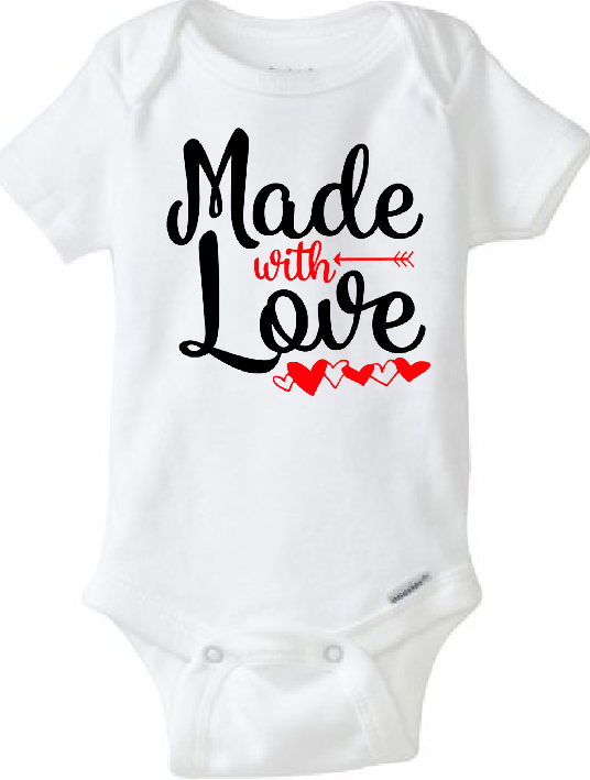 6acd43c10c2 Baby Onesie Made With Love · CryBabyFashion · Online Store Powered ...
