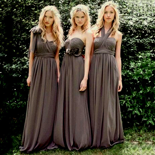 4b58122a2d3 Asymmetric One Shoulder Bridesmaid Dress with a Half Sleeve, Empire Wood Long  Bridesmaid Dress,