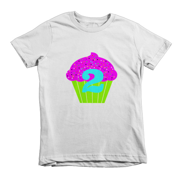 2 Year Birthday Shirt Short Sleeve Kids T