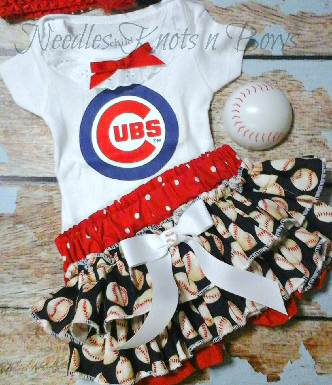 5694e8d004645 Girls Chicago Cubs Outfits