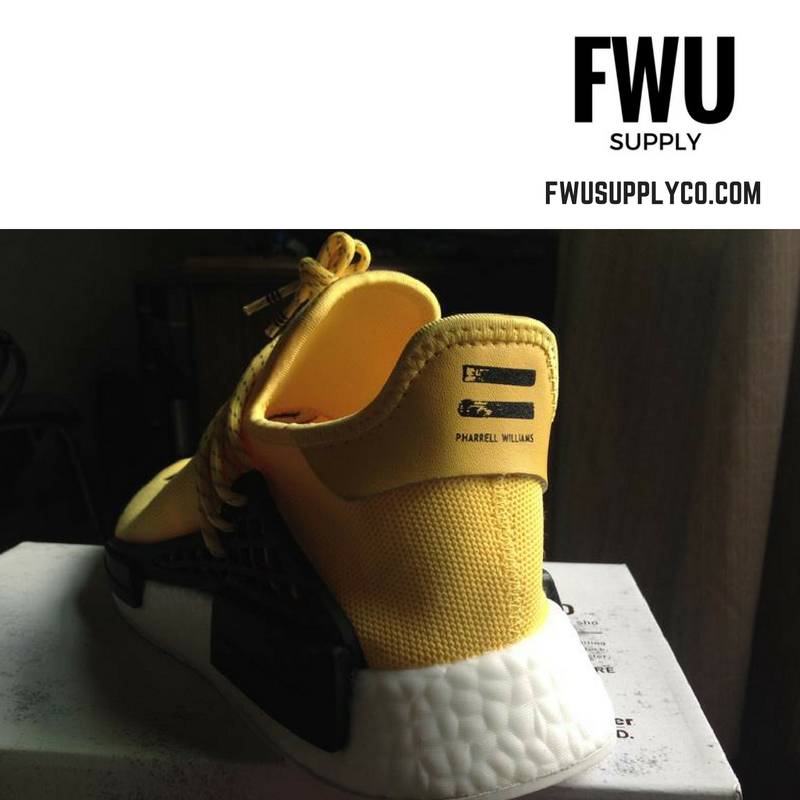 NMD Human race yellow color way Highend version Marinerocean