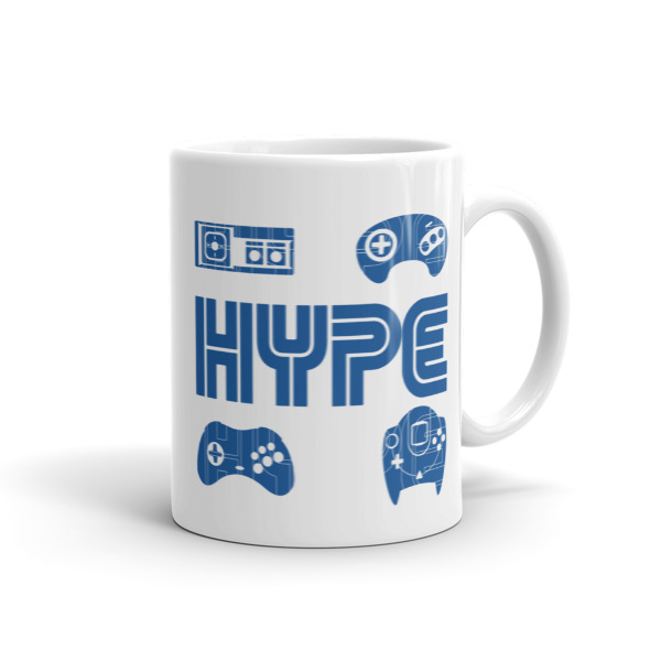 HYPE Mug, Sonic, Retro, Sega, Master System, Arcade, Dreamcast, Saturn,  Video Game, Genesis from Nube Tees