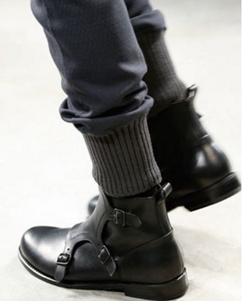 0f32b450b19 Handmade mens triple monk strap leather boots, Mens black leather boots,  Black leather boot