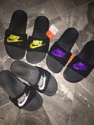 a0683706c6c1 Woman s Nike bling slides · THE BLING QUEEN · Online Store Powered ...