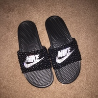 77d802828f9e Woman s Nike bling slides · THE BLING QUEEN · Online Store Powered ...