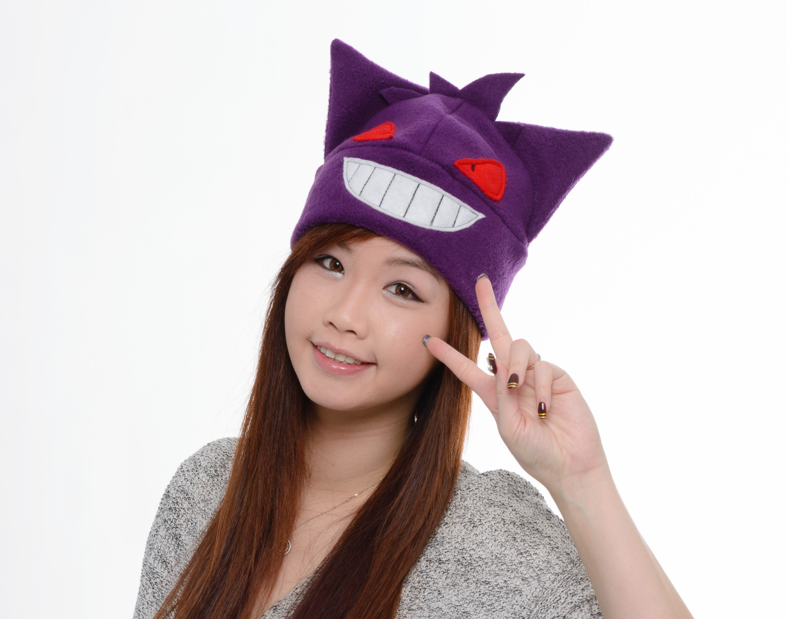 Gengar Fleece Hat - Anime Hat - Manga Hat - Cosplay Convention Hat - Purple Gengar  hat - Anime Gengar Hat on Storenvy dca10b18aad3