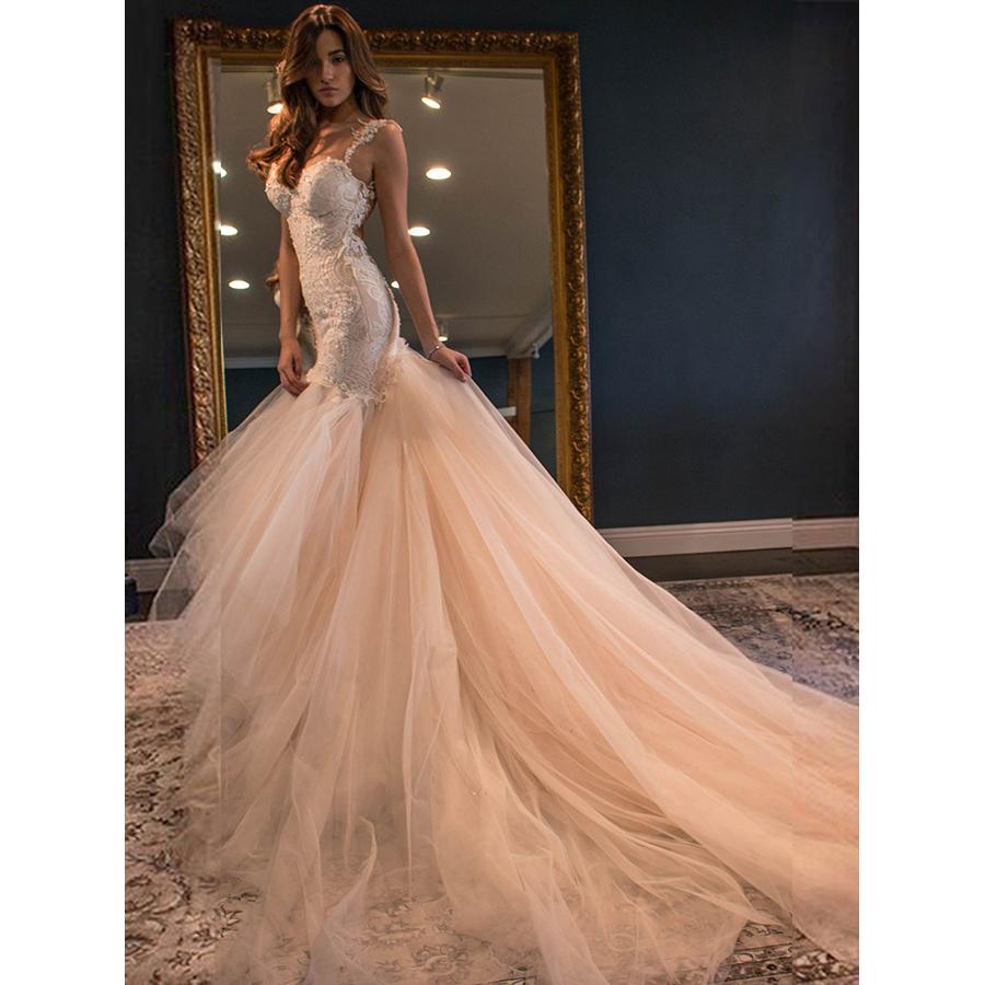 25da8c85c6d Rounded Sweetheart Sexy Long Wedding Dress