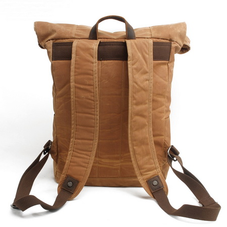 Rolltop Waxed Canvas Adventure Rucksack Weekender