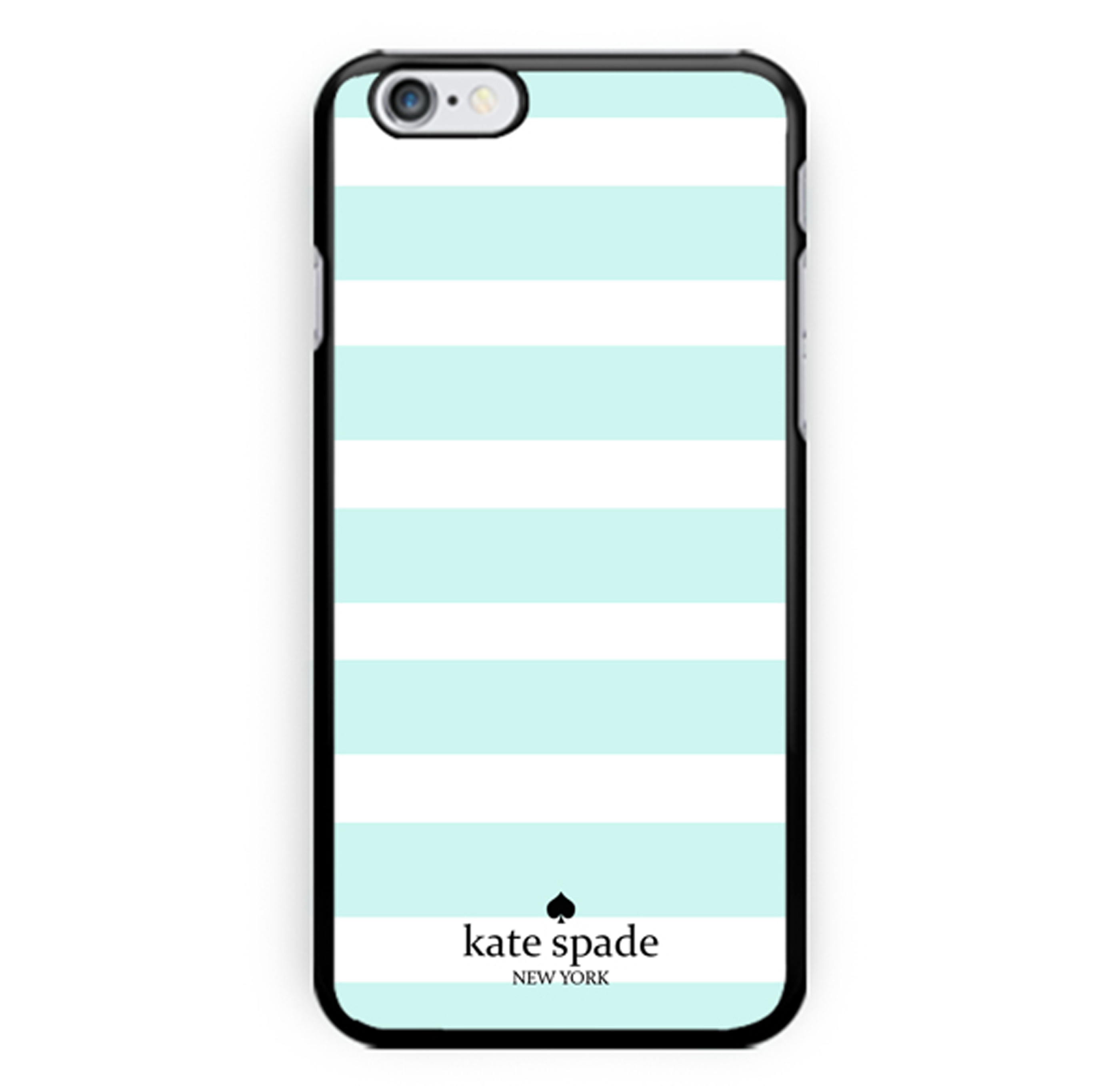 new product 8494f 660ba Kate Spade Pale Mint Stripes Cool - Print Hard Plastic Case Cover Skin For  iPhone 6, For iPhone 6s And For iPhone 7