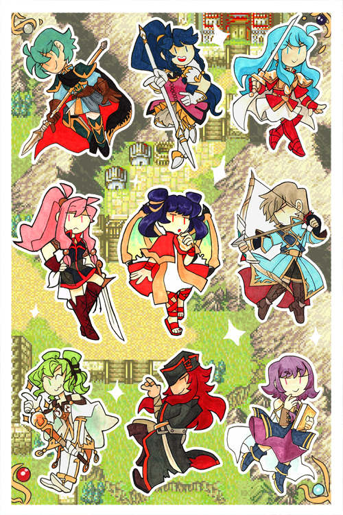 Fire Emblem Sacred Stones Sticker Sheet Amy Jadesnaps Store