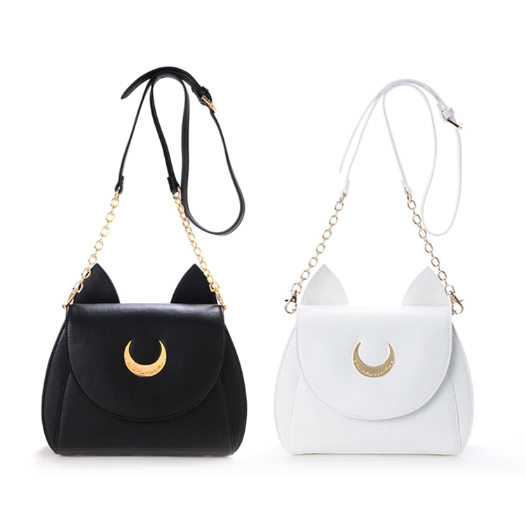 9652ba6e1f2e07 White/Black Sailor Moon Luna/Artemis Shoulder Bag · Harajuku fashion ·  Online Store Powered by Storenvy