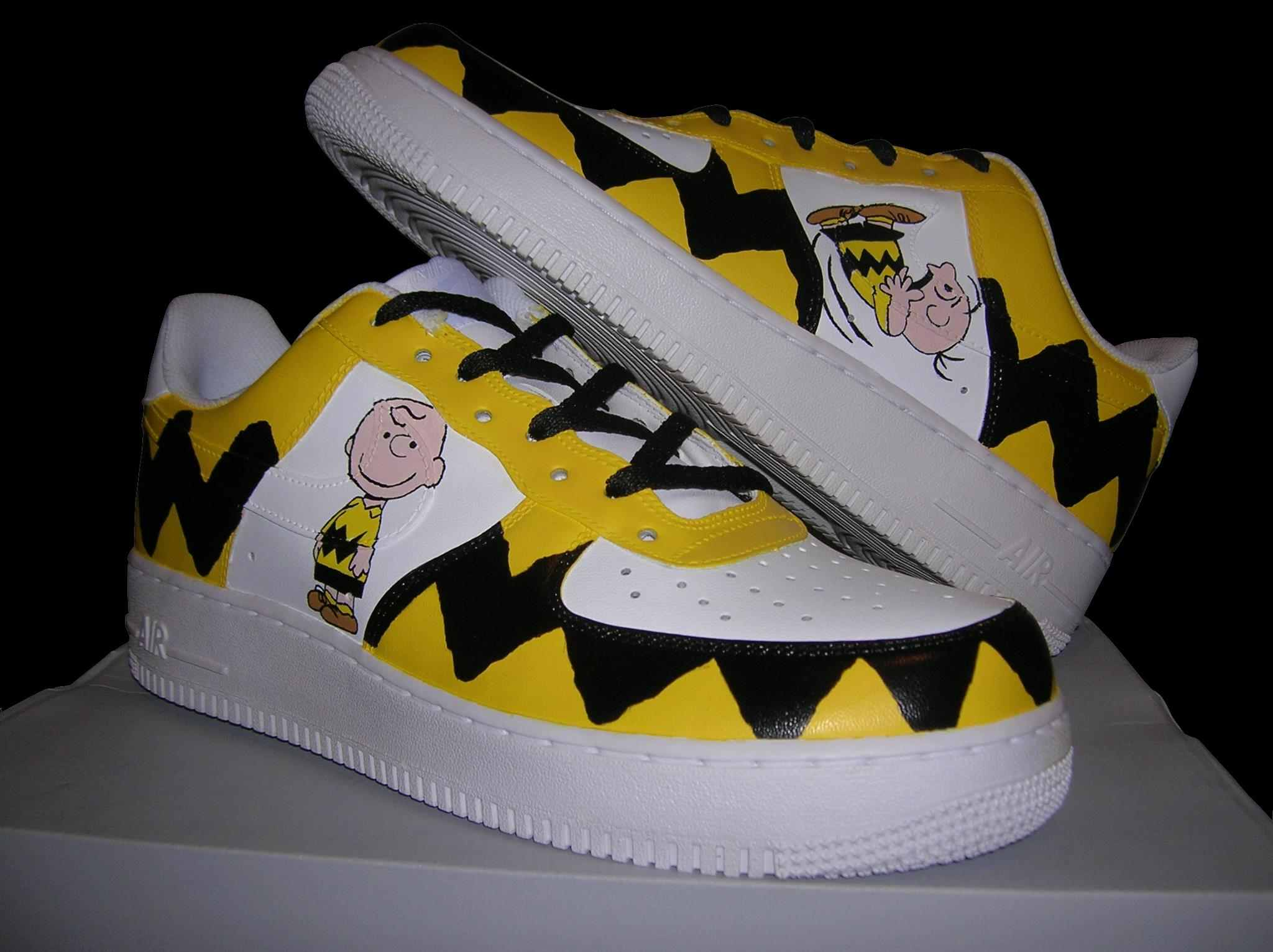 a698acc455fc CHARLIE BROWN  CUSTOM PAINTED AIR FORCE ONE SNEAKERS on Storenvy