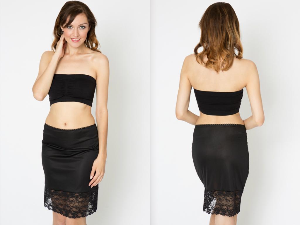 556deb8f968f Black Lace Dress Extender Slip · kolouri · Online Store Powered by ...