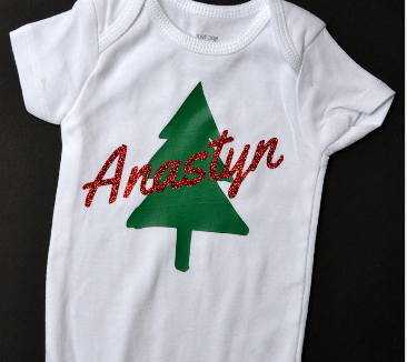 Christmas Tree Onesie.Personalized Name Christmas Tree Onesie From Poofy Cheeks The Shop
