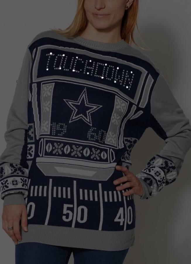 Nfl Dallas Cowboys Light Up Sweater Unisex On Storenvy
