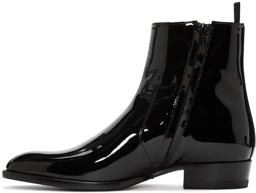 Handmade Men Fashion Black Patent