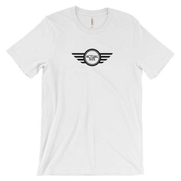 Mini Cooper Actual Size Logo In Black Unisex Short Sleeve T Shirt