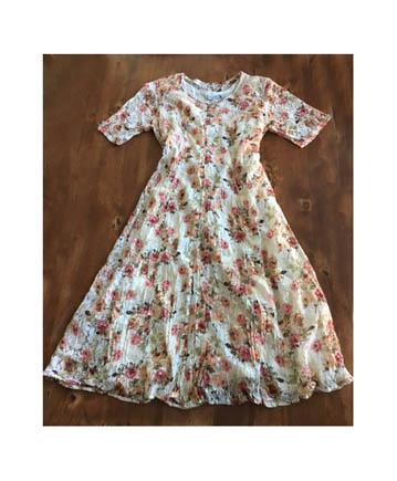 60fbea16bfa Vintage 90s Nostalgia Woman Antique Feel Floral Lace Dress (3X) on ...