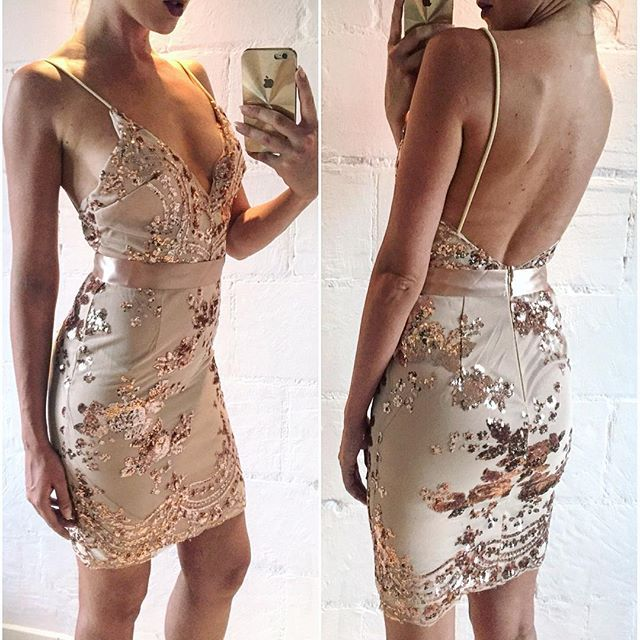 459a5b33bb Sexy Gold Short Sequins Prom Dress Homecoming Dress Cocktail Dress on  Storenvy