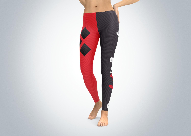 52c9e48f5914c Harley Quinn Leggings, Suicide Squad Leggings, Workout Pants, Yoga ...