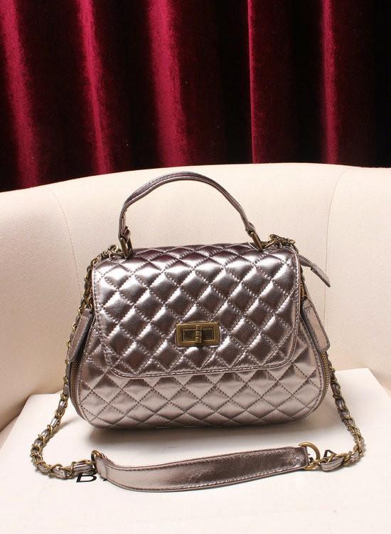 9454cec361d6 Gaetena Silver Leather Handbag on Storenvy