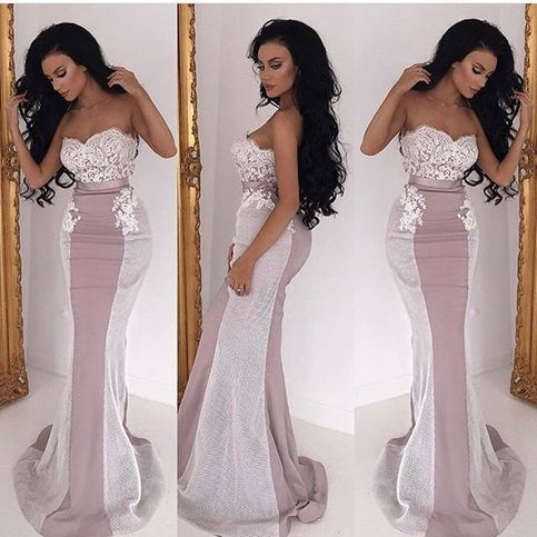 Gorgeous Sweetheart Mermaid Prom Dress Formal Gown With