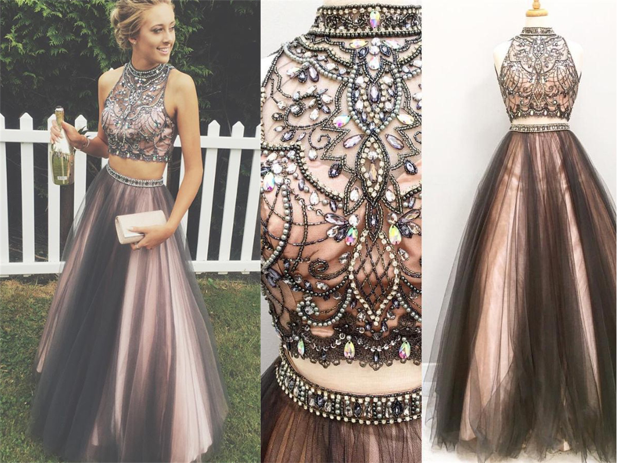 Sparkly Handmade Long Prom Dresses For Teens,Pretty Party ...