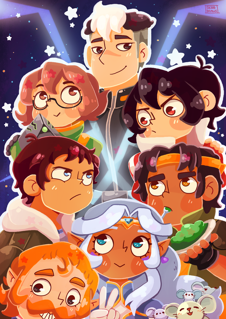 Voltron - Legendary Defenders Print from BotTwins