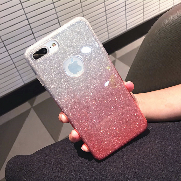 sports shoes 3570a 8ef71 Shading Ombre Glitter iphone 6/6s iphone 7 plus Case