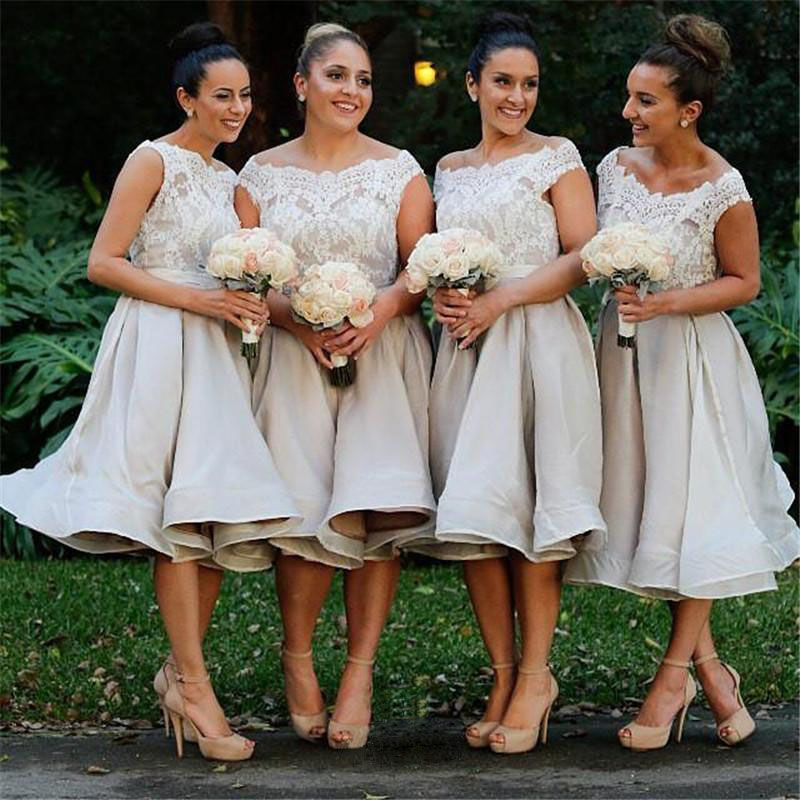 8811836ff830 Bridesmaid Gown,White Bridesmaid Dresses,Short Bridesmaid Gown,Summer Bridesmaid  Gowns,Beach