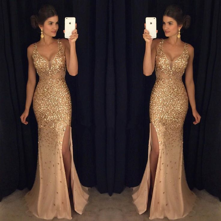 Shiny Crystal Beading Long Prom Dressformal Dresses On Storenvy