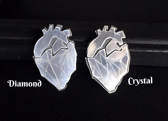 Pre order crystalline heart necklace heart necklace anatomical heartnecklace2 small aloadofball Gallery