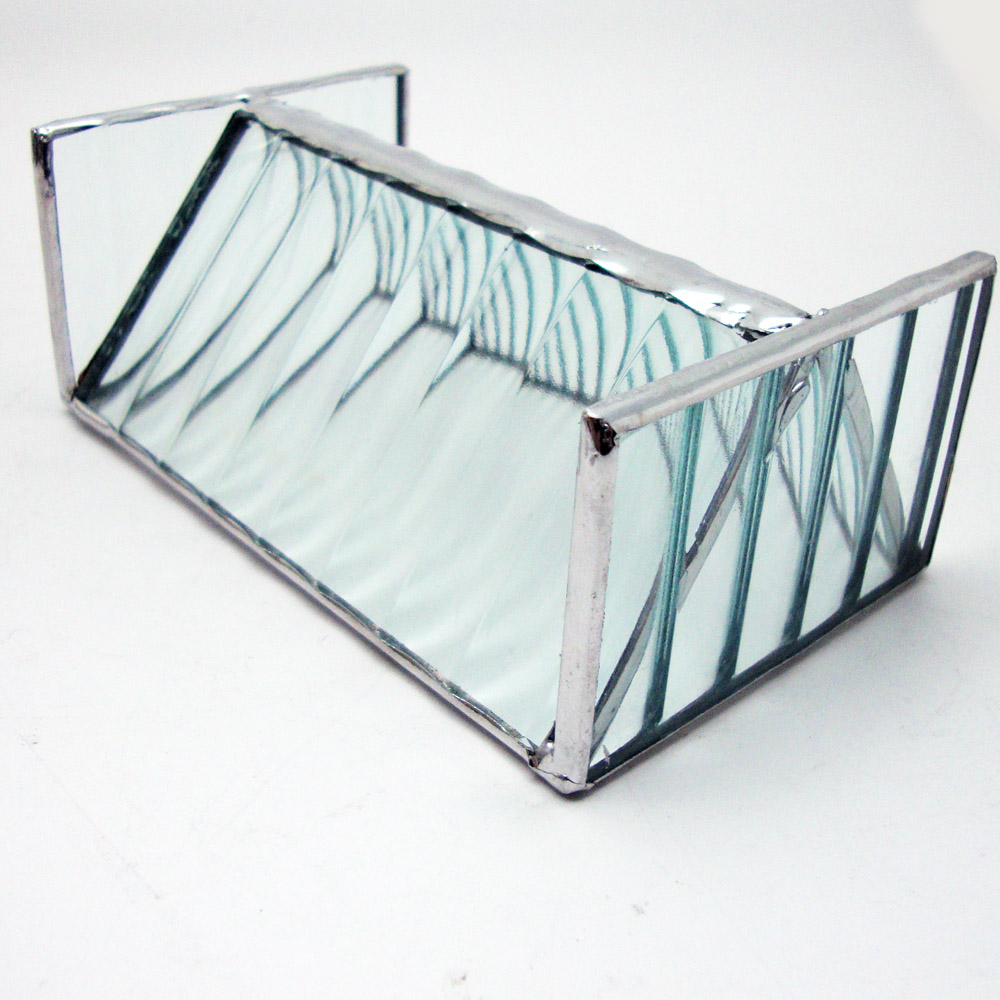 Stained Glass Business Card Holder - Contemporary Clear on Storenvy