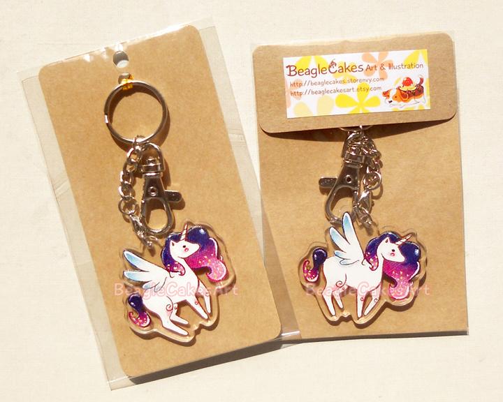 Unicorn Keychain  Cute Unicorn Acrylic Charm  Phone Strap  Kawaii Phone  Charm  Princess Pony Keychain  Kawaii Dust Plug  Anime Keychain  from