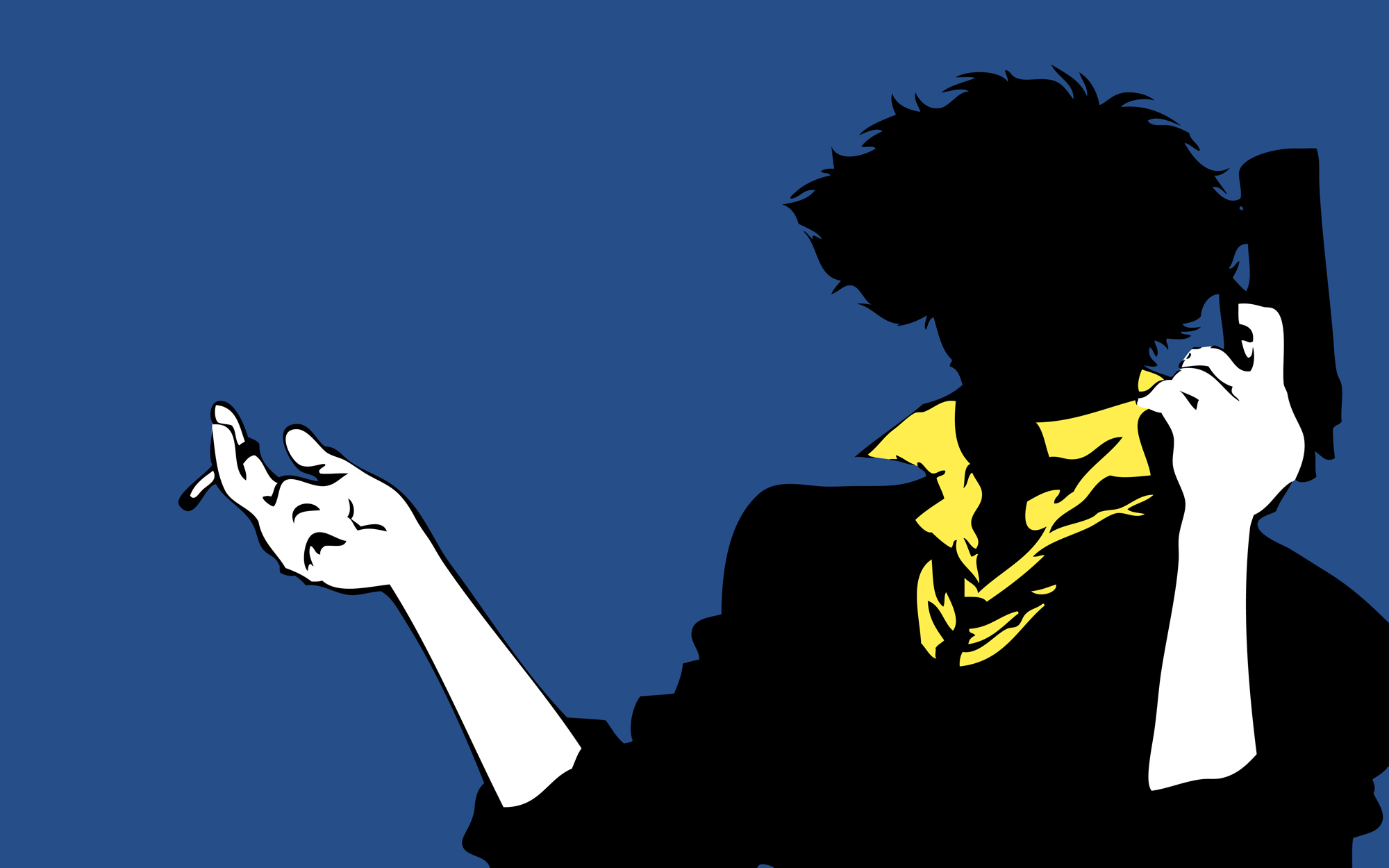 Cowboy Bebop Spike Speigel Jet Black Faye Valentine Edward Ein Bounty Hunter Abstract Anime Artwork Poster Print 4x6 8 5x11 11x17 18x24 24x36