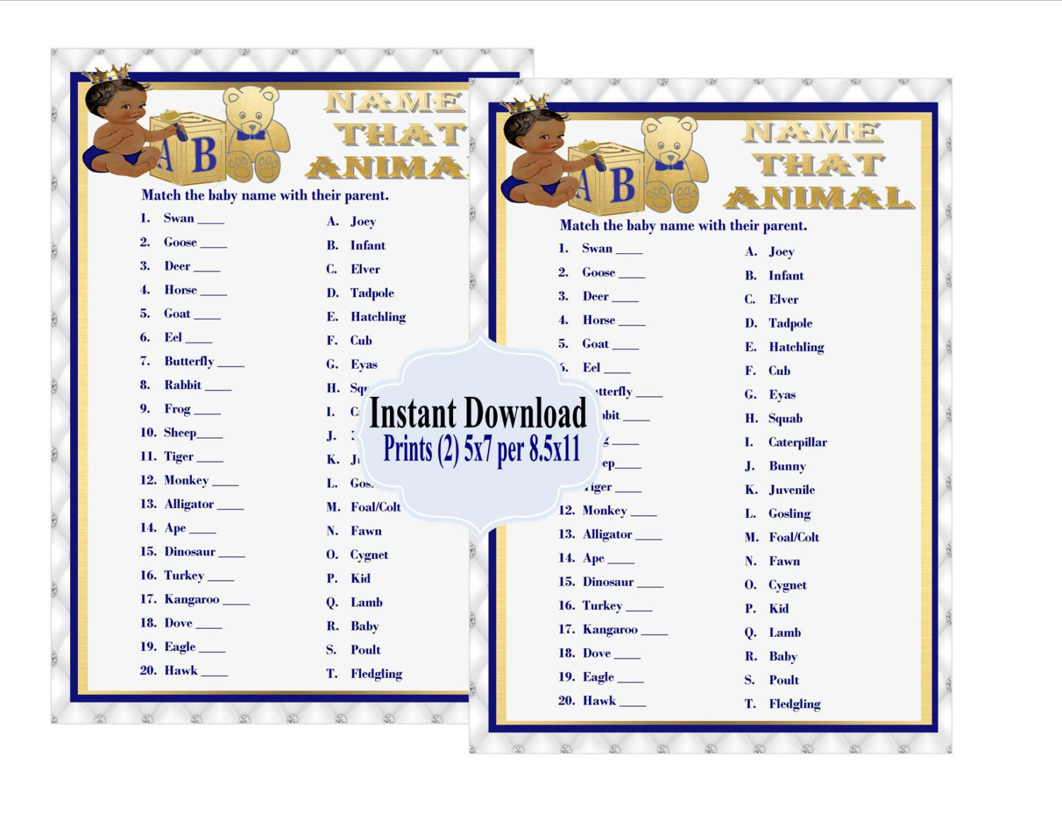 photograph regarding Baby Shower Word Scramble Printable named PRINTABLE Status that Boy or girl Animal Video game, Royal Kid Shower Match, Little one Shower Term Scramble, Royal Blue, Youngster Shower Online games, Royal Choice in opposition to Ink Me