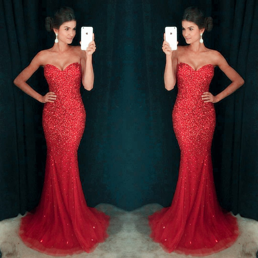 6adb8d13 Gergeous Beaded Evening Dress,Mermaid Evening Dresses,Lace Evening Dress,Formal  Women Dresses ,Tulle Sexy Prom Dresses 175 on Storenvy