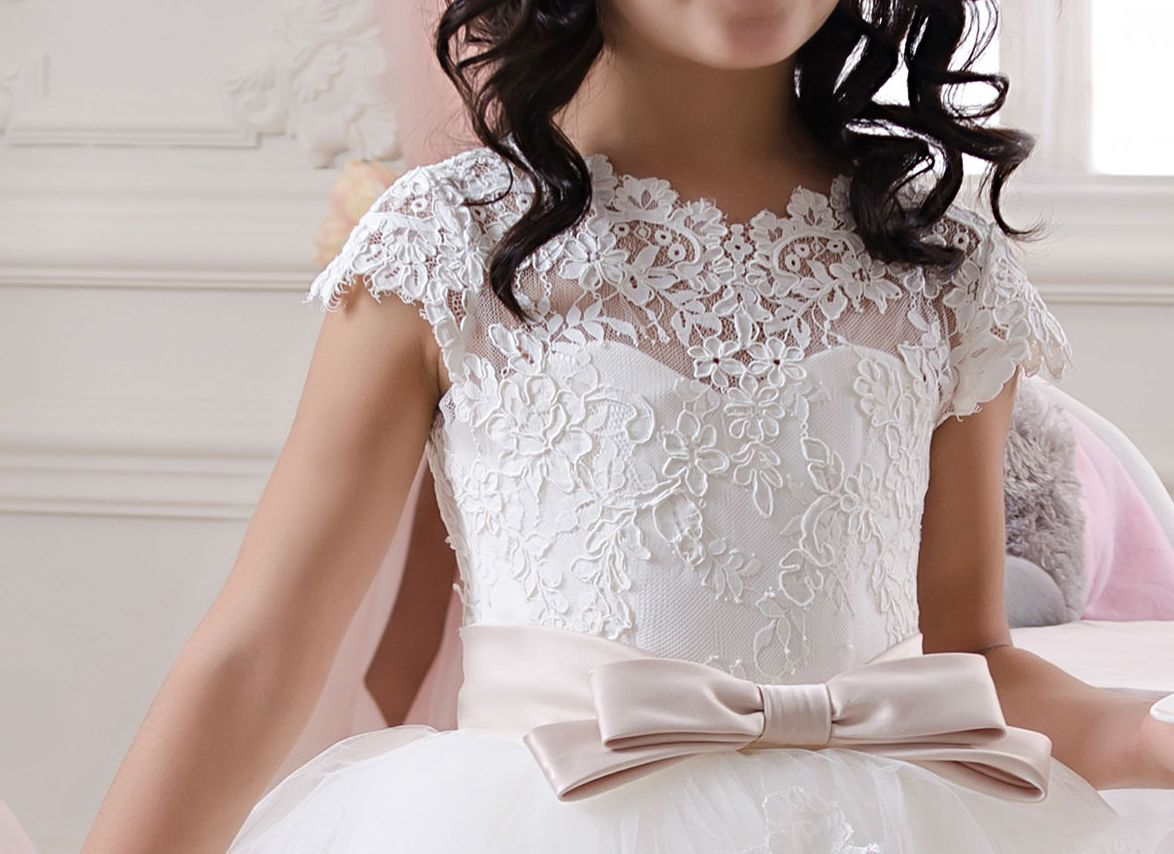 56c5f0f74 White Lace Flower Girl Dress - Birthday Holiday Wedding Party Bridesmaid  White Tulle Lace Flower Girl Dress 1075 on Storenvy